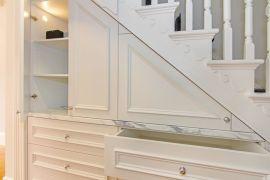Smart storage under staircase