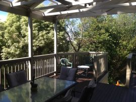 Outdoor Living, dining out on the deck