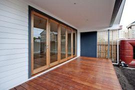 Outdoor Living with Deck under a veranda