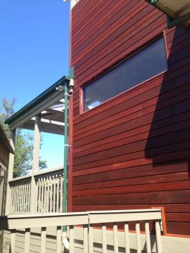 Exterior timber panelling